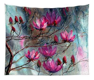 Magnolia At Midnight Tapestry