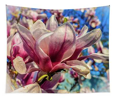 Magnolia Flowers Tapestry