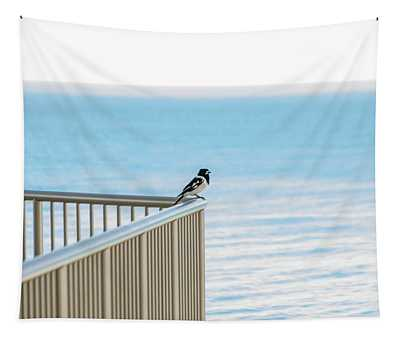 Magpie In Waiting Tapestry
