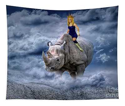 Majin On A Rhino Tapestry