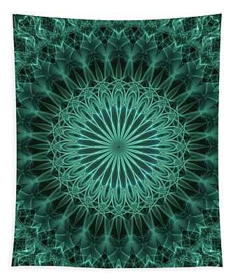 Malachite Green Mandala Tapestry