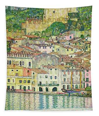 Malcesine On Lake Garda, 1913 Tapestry