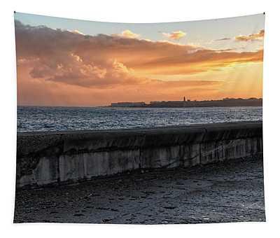 Malecon Sunrise Tapestry