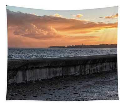 Malecon Sunrise Tapestry