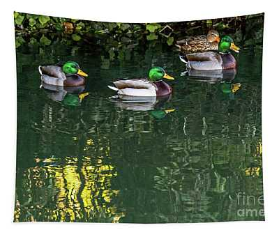Mallards In The Shadows Tapestry