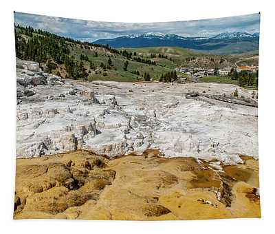 Mammoth Hot Springs And Hotel Tapestry