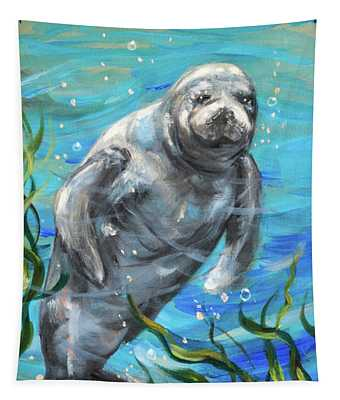 Manatee Dos Tapestry