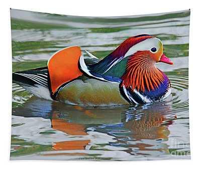 Mandarin Duck-central Park-13 Tapestry