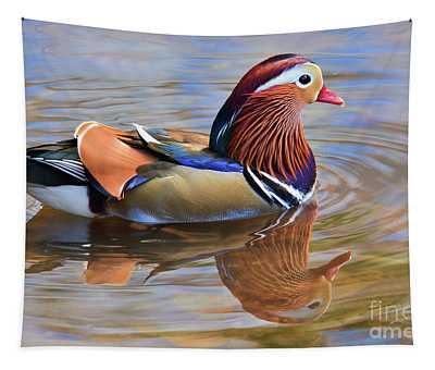 Mandarin Duck Central Park 2 Tapestry