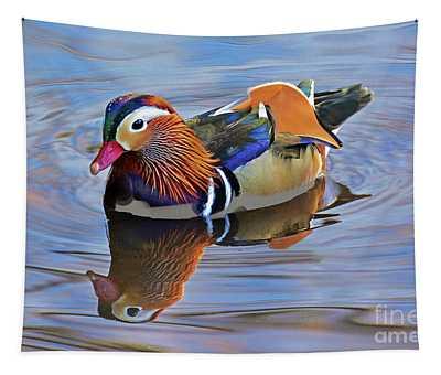 Mandarin Duck Central Park 3 Tapestry