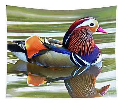 Mandarin Duck- Central Park 7 Tapestry