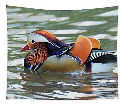 Mandarin Duck- Central Park 8 Tapestry