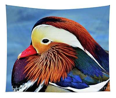 Mandarin Duck Portrait 2 Tapestry