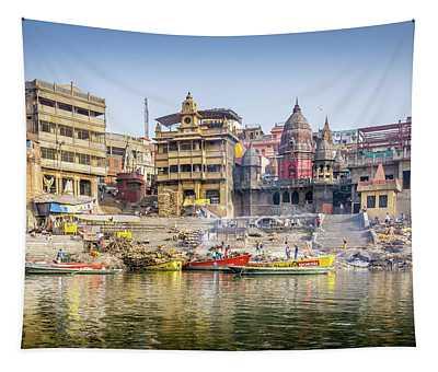 Manikarnika Varanasi Tapestry