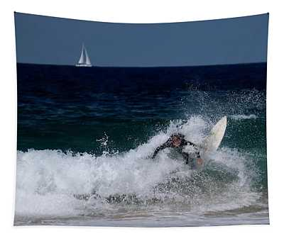 Manly Beach Surfer Tapestry