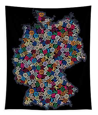 Map Of Germany-2 Tapestry