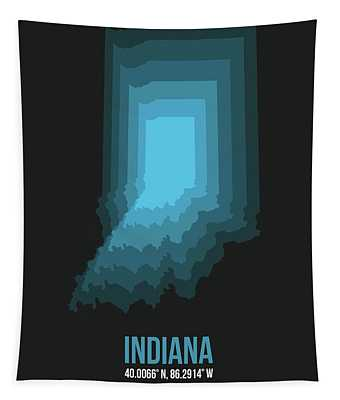 Map Of Indiana 2 Tapestry