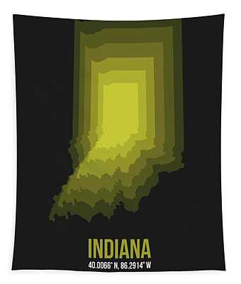 Map Of Indiana 3 Tapestry