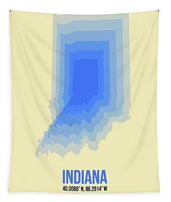 Map Of Indiana Tapestry