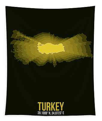 Map Of Turkey 3 Tapestry