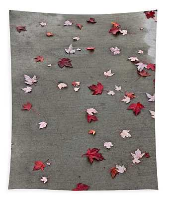 Maple Leaf Stroll Tapestry