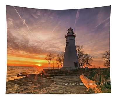 Marblehead Lighthouse Sunrise  Tapestry