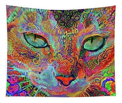 Mardi Gras Cat Tapestry