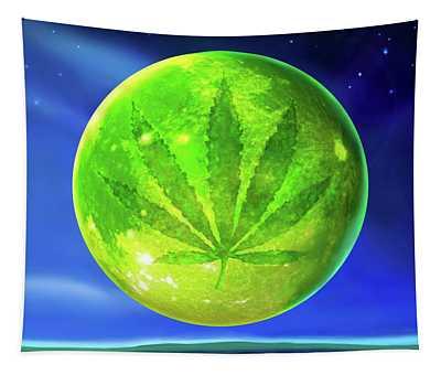 Marijuana Moon  Tapestry