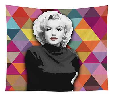 Tapestry featuring the painting Marylin Monroe Diamonds by Carla Bank
