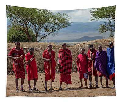 Maasai Men Tapestry