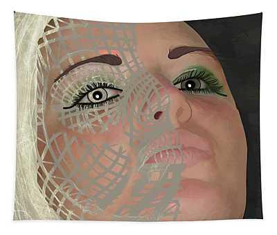 Mask Dark And Light Tapestry