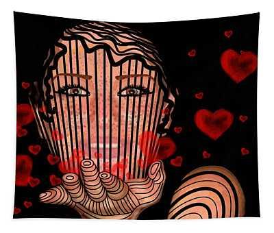 Mask Of Valentine Tapestry