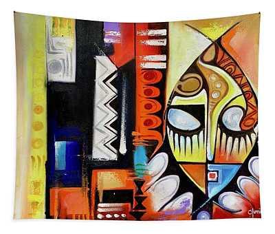 Mask Portrait Tapestry
