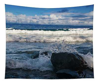 Maui Breakers Pano Tapestry