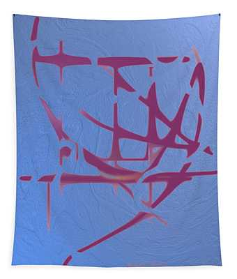 Mauve On Blue Texture Tapestry