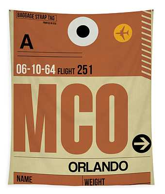 Mco Orlando Luggage Tag I Tapestry