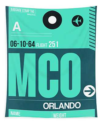 Mco Orlando Luggage Tag II Tapestry