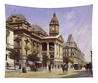 Melbourne Town Hall And Swanston Street, 1889 Tapestry