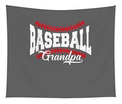 Mens Baseball Grandpa T-shirt Tapestry