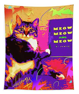Meow, Meow And Meow Tapestry