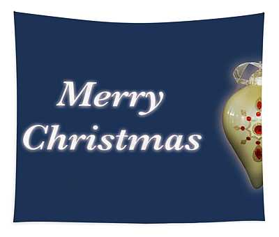 Merry Christmas Ornament Blue Tapestry