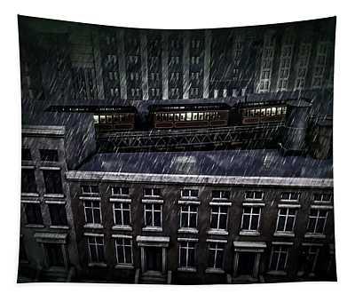 Midnight Train Tapestry