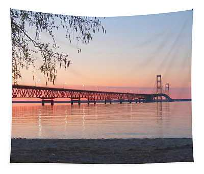 Mighty Mac And Birch Tree Tapestry