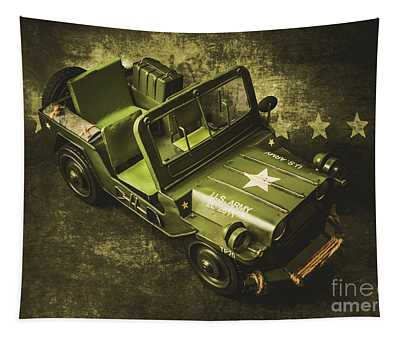 Military Green Tapestry