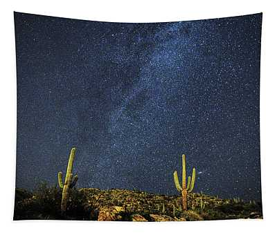 Milky Way And Cactus Tapestry