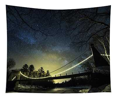 Milky Way Over The Wire Bridge Tapestry