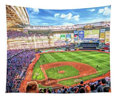 Miller Park Milwaukee Brewers Tapestry