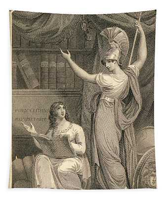 Minerva Directing Study To The  Attainment Of Universal Knowledge Tapestry