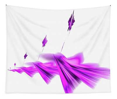 Missile Command Purple Tapestry