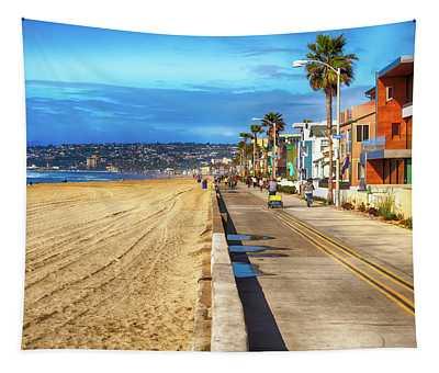 Mission Beach Boardwalk Tapestry